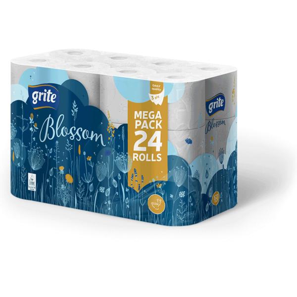 Grite Blossom 24 tekercses toalettpapír